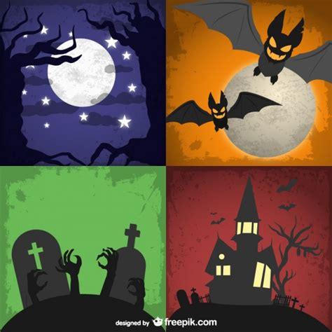 imagenes halloween para descargar conjunto de fondos para halloween descargar vectores gratis