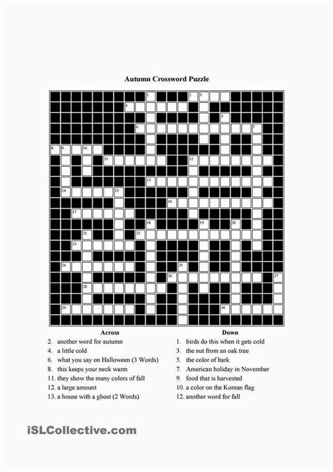 For An Mba Hopeful Crossword by 상의 Free Crosswords에 관한 이미지 상위 17개개 추수감사절 아동용