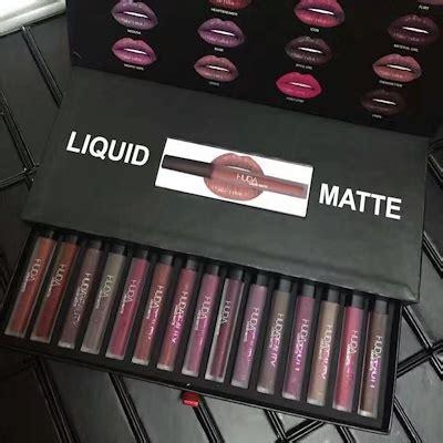 qoo10 16color set huda liquid matte lipsticks