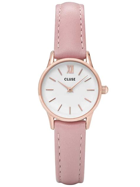 Ac 8490 Rosegold Pink Leather 1 cluse la vedette gold plated pink cl50010 t h baker family jewellers