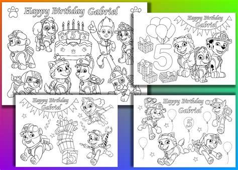 paw patrol birthday coloring pages paw patrol birthday party coloring fantastic party shop