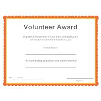 volunteer award certificate template certificate templates