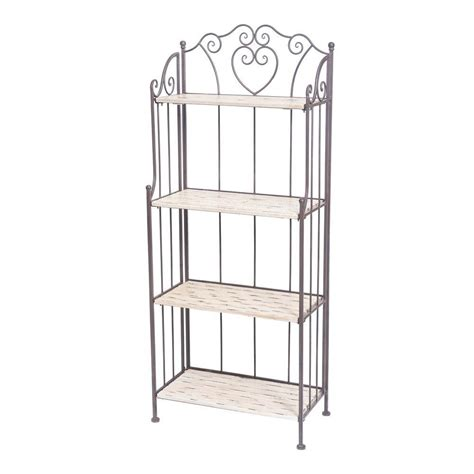 Bakers Rack Home Depot by Sunjoy 23 5 In W Bakers Rack In Gray 110302015 The Home