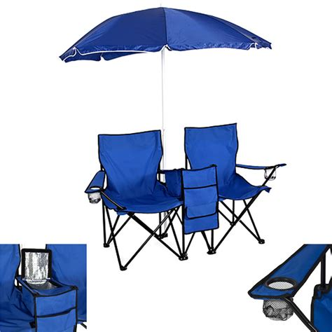 portable outdoor cing 2 seat folding chair with