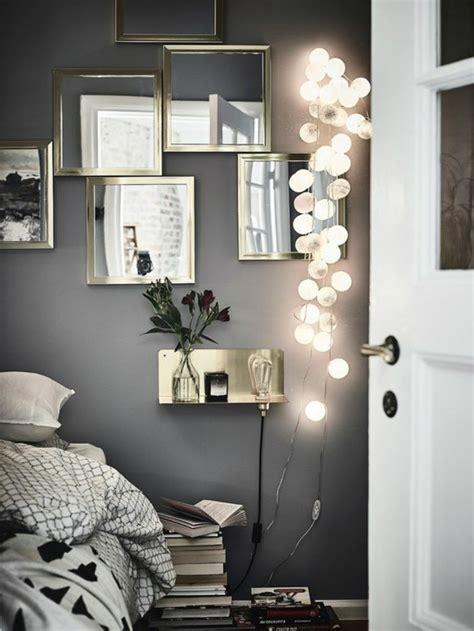 wand mit spiegel gestalten schlafzimmer deko wand schmauchbrueder