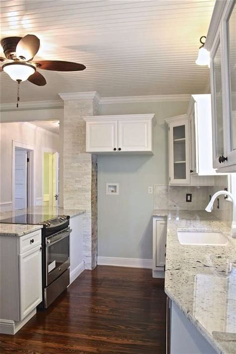 salt kitchens and bathrooms alaskan white granite and sherwin williams sea salt