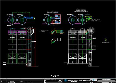 bucket elevator dwg elevation  autocad designs cad