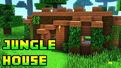 minecraft jungle house designs minecraft jungle house tutorial xbox pe pc ps3 ps4 youtube