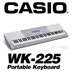 Keyboard Casio Wk 225 en71 lcd 61 key electronic keyboard piano x stand digital musical on popscreen