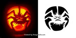 free printable scary pumpkin carving pattern designs 10 free scary pumpkin carving patterns stencils