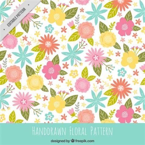 flower pattern freepik cute colors flowers pattern vector free download