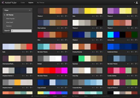 themes colour palette choosing a website color scheme alter imaging