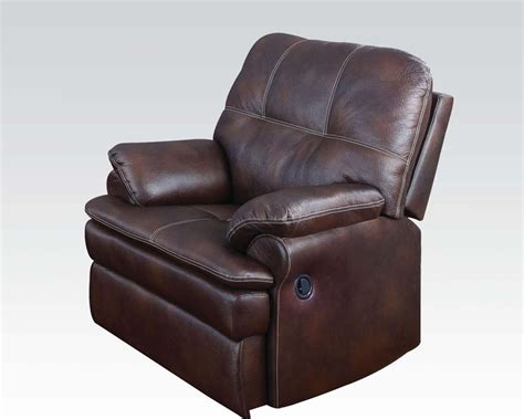 Microfiber Recliner Chair by Acme Furniture Microfiber Recliner Zamora Ac50752