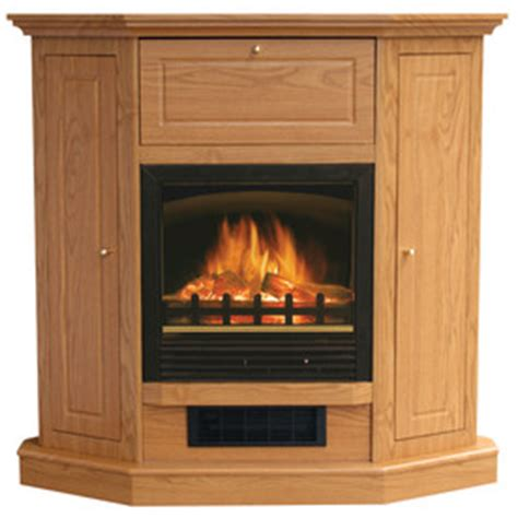 Oak Corner Electric Fireplace by Shop Stay Warm 39 In Golden Oak Corner Electric Fireplace
