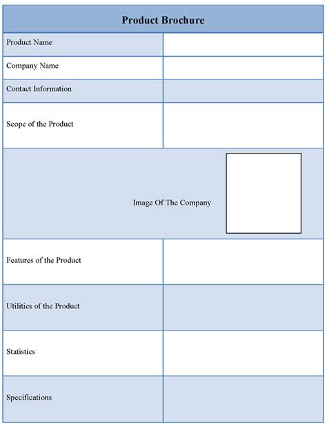 product brochure template format of product brochure