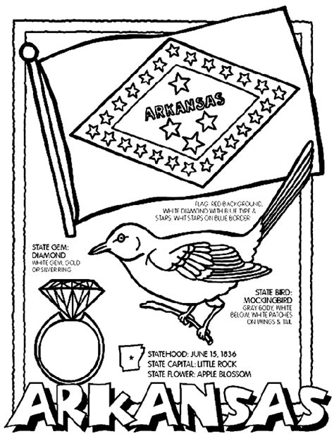 state coloring pages crayola arkansas coloring page crayola com