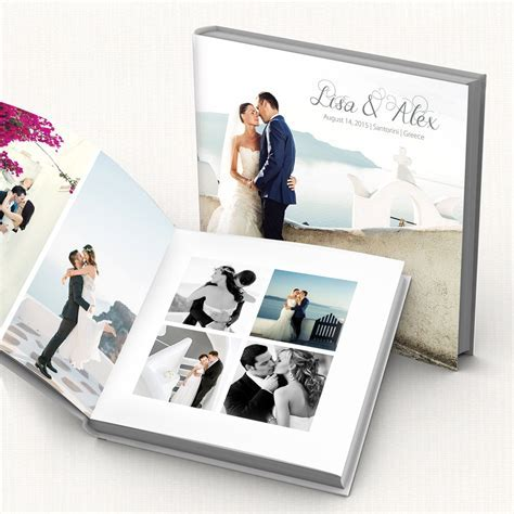Wedding Album PSD Template. Customizable modern wedding