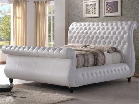 White Sleigh Bed White Sleigh Bed Image For White Sleigh Bed Frame Gorgeous Sleigh Bed Leather