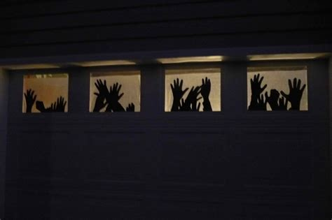 Creepy Halloween Decor Ideas Reasons To Skip The Housework Garage Door Decor