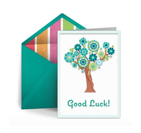 good luck card template 21 free printable sle