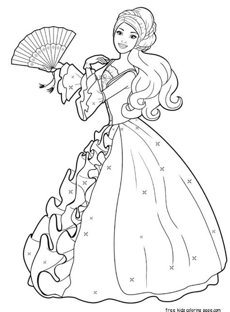 barbie dress coloring page printable barbie princess dress up games and makeover