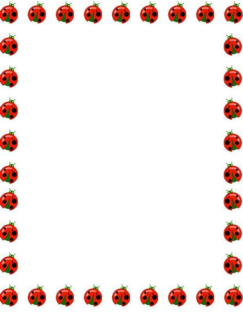 printable ladybug stationery free ladybugs border stationery free printable ladybugs