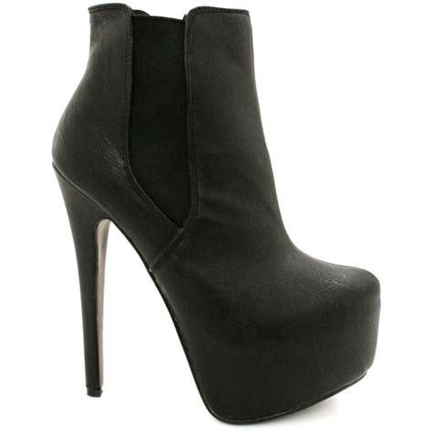 buy heeled concealed platform chelsea ankle boots