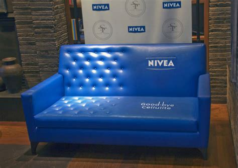 couch marketing nivea good bye cellulite guerrilla marketing couch in a