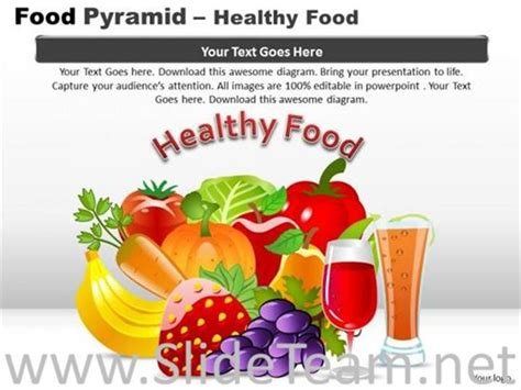 healthy food powerpoint theme powerpoint diagram