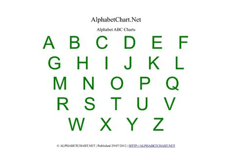 printable alphabet and number chart kindergarten alphabet chart printable quotes