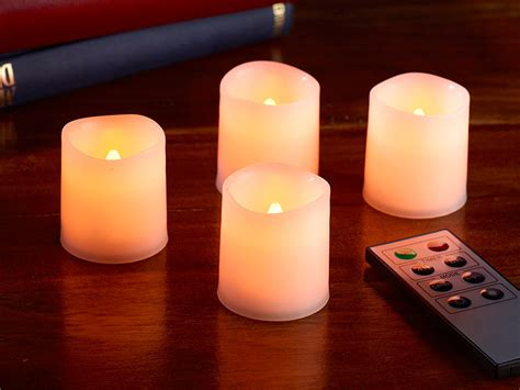 Mini Teelichter Kerzen by Lunartec Mini Led Kerzenset 4er Set Mit Fernbedienung Wei 223