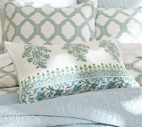 pottery barn bed pillows emma lumbar pillow cover pottery barn