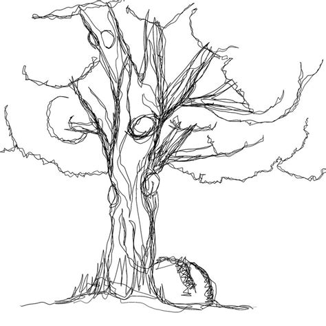 line drawings trees a tree in one line by sirferrick on deviantart