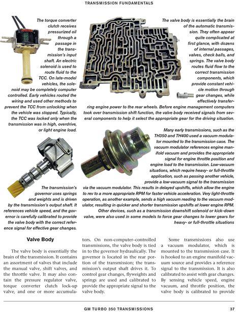 chevy turbo  transmission rebuild modify book manuasa