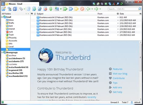 Thunderbird Email Search Thunderbird For Windows 7 Software Made To Make Email Easier Windows 7
