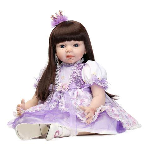 Baby Doll Denim Biru Tua aliexpress buy large size 70cm silicone reborn baby dolls lifelike princess baby