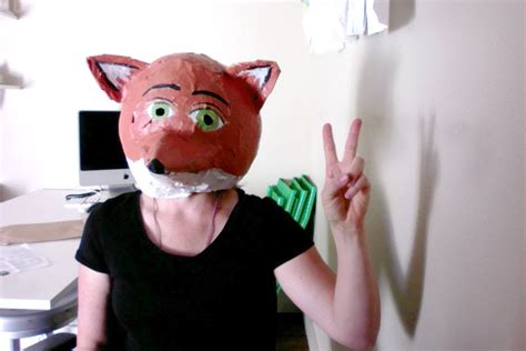 How To Make A Mask Using Paper - how to make a paper mache fox mask