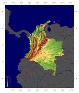 physical maps of physical map of colombia south america