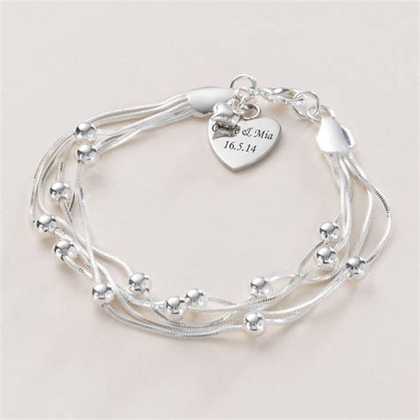beautiful personalised bracelet with engraving jewels 4