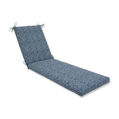 blue chaise lounge indoor outdoor polyester chaise lounge cushion bellacor