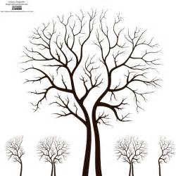 Designer Trees - leafless autumn tree design vector dragonartz designs
