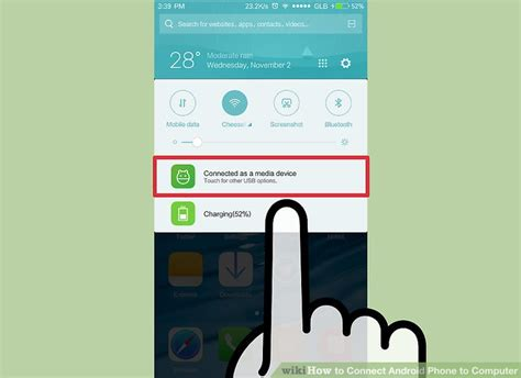 connect android to pc 3 ways to connect android phone to computer wikihow