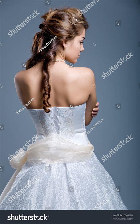 Wedding Hair Wearing It by Slim Beautiful Hair Wearing Stock Photo