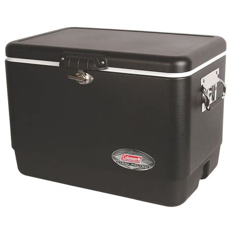 coleman 54 qt matte black steel cooler 3000003098 the