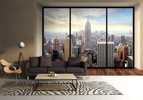 new york wall mural uk new york skyline penthouse wall mural buy at allwallpapers