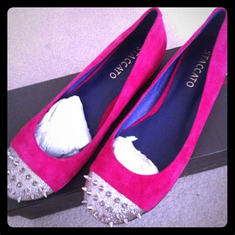 Flat Shoes Wanita Staccato 10 83 staccato shoes brand new in box fucshia staccato spiked flats from s closet on