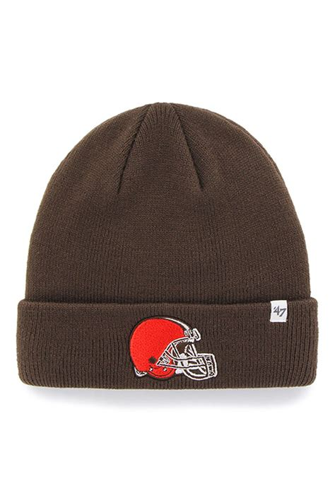 mens knit hat 47 cleveland browns brown raised cuff mens knit hat 4808530