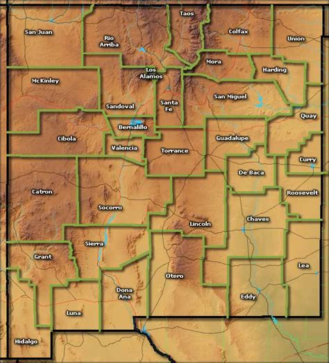 new mexico map counties new mexico information photos and maps