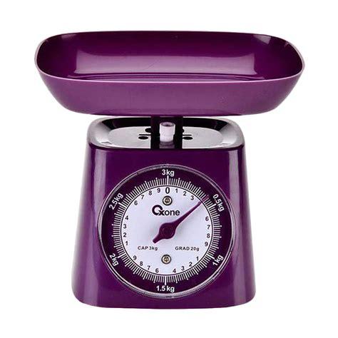 Timbangan Kue Oxone jual oxone ox 211 timbangan dapur ungu 3 kg