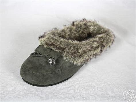 jessica simpson house shoes jessica simpson prettier charcoal microsuede house slippers womens shoes new ebay